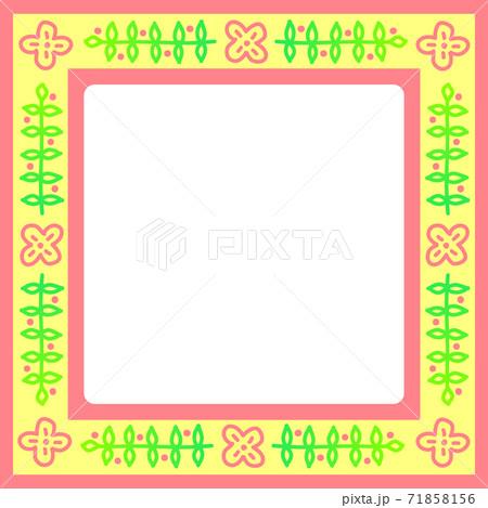 春イメージの植物模様のフレーム 71858156