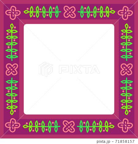 秋冬イメージのつる植物模様のフレーム 71858157