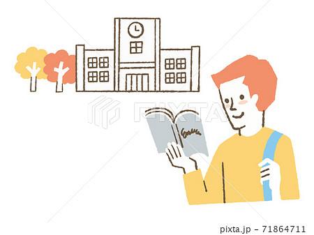 教科書を読む学生 71864711