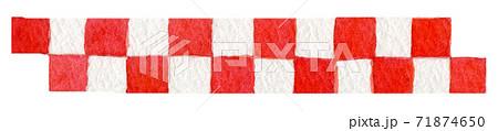 お正月 縁起物 水彩イラスト 年賀状素材 71874650