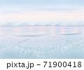 背景素材 穏やかな遠浅の海のイメージ トワイライト 薄い色 71900418