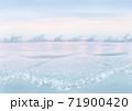 背景素材 穏やかな遠浅の海のイメージ トワイライト  71900420