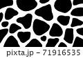 丑年の年賀状素材にも使える牛柄のパターン 71916535