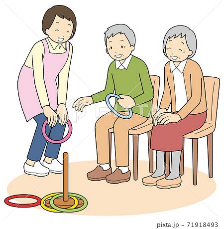 輪投げを楽しむ高齢者 71918493