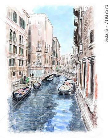 ベネチアの水路 71923571