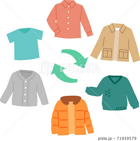 夏物や冬物の洋服、衣替え 71939579