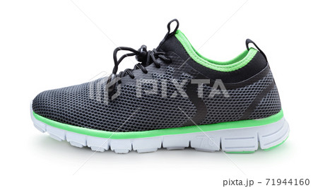Synthetic sneakers isolated on white. 71944160