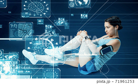 スポーツとテクノロジー スポーツテック 71961253