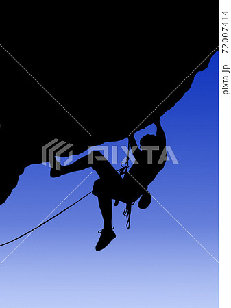 岩壁を登るクライマーのイラスト 72007414