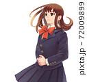 未来を見つめる女子高生のイラスト 72009899