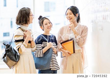 女子大生 留学生 大学 キャンパスライフイメージ 撮影協力:中央工学校附属日本語学校 72045392