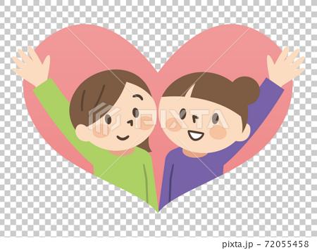 Illustration of a good friend same-sex couple 72055458