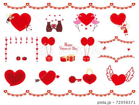 素材-バレンタイン2(2020)文字なし 72056371