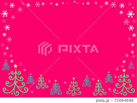 クリスマスイメージの夜空と森の背景 72064696
