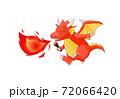 歌と一緒に炎を吐くドラゴン 72066420