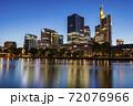 Modern panorama of Frankfurt at evening 72076966