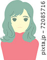 【主線なし】軽くウェーブのかかった髪の女性 72085716