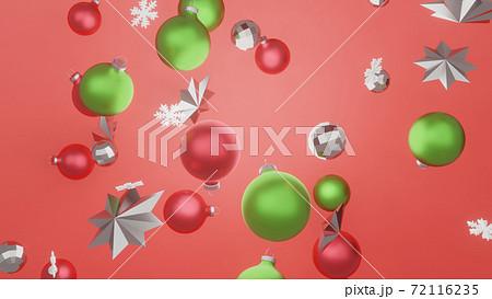 クリスマス背景3DCGイラスト画像 72116235