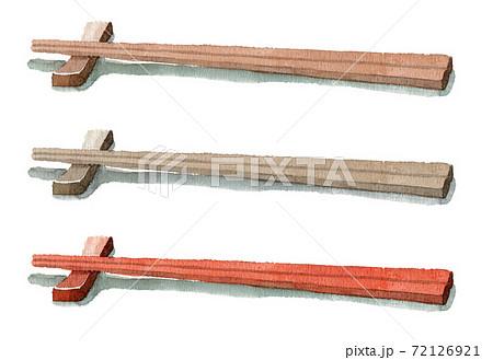 アナログ水彩箸と箸置き 72126921