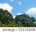 晴れの日の夏山と青空と白雲の写真 72133248