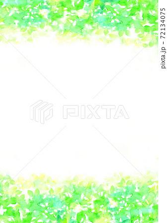 水彩で描いた新緑のイラスト 72134075