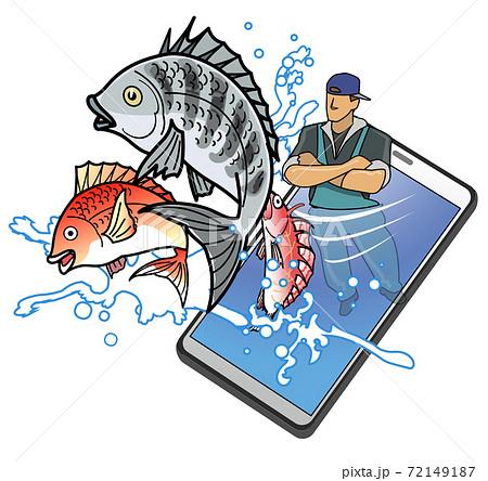 スマートフォンを利用した海鮮の直販 72149187