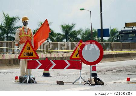 進入禁止を警告するベトナムのマネキン 72150807