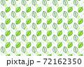 緑の葉っぱのシームレスパターン(スウォッチ素材) 72162350