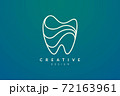 Tooth shape design ideas. Modern minimalist and elegant vector illustration. Can be used for patterns, labels, brands, icons or logos 72163961