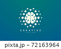 Design abstract brain shape logo with technology style. Simple and modern vector design for business brand in the field of digital technology, network, internet, media, data, electronic, software. 72163964