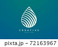 Minimalist abstract shaped water drop logo design. Simple and modern vector design for business brand and product. 72163967