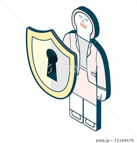 女性のイラスト_安全/防御 72169479