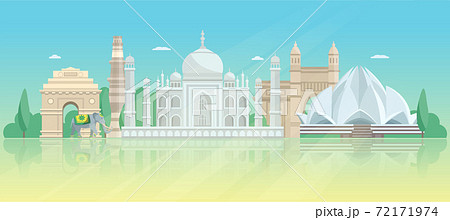 India Architectural Skyline Poster 72171974