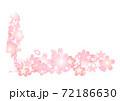 桜をモチーフにした入学•卒業イメージカット 72186630
