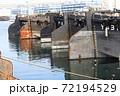 横浜港のばら積み船 72194529