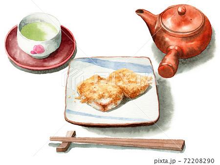 アナログ水彩安倍川餅きなこ餅日本茶セット 72208290