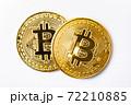【仮想通貨】ビットコイン 白背景 72210885
