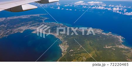 沖縄本島中部の空撮 72220465