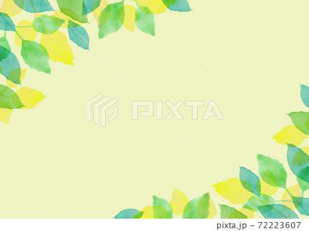 水彩で描いた新緑の背景イラスト 72223607