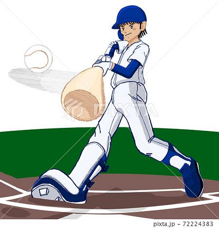 野球フルスイング ホームラン コンタクト01 72224383