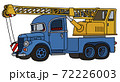 The funny old blue and yellow truck crane 72226003