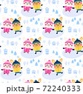 cute rabbit couple cartoon seamless pattern design 72240333
