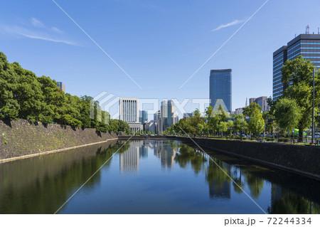 【東京都】都市風景 皇居日比谷濠 72244334