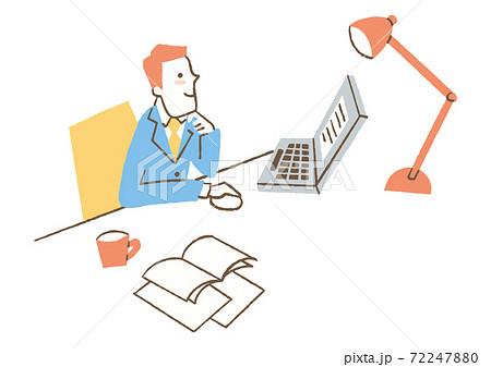 パソコンで仕事をする人 72247880
