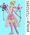 二つのエナメルオーキッドを持った女の子のエナメルの服を着た妖精 72252492