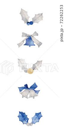 クリスマス、柊とクリスマスベルの素材 72262253