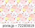 バレンタインのハートシームレスパターン 72283819