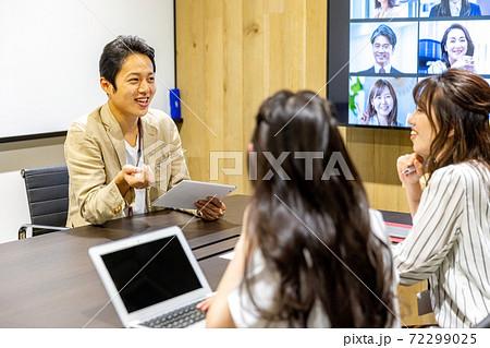 オンラインミーティング ビジネス モニター 72299025