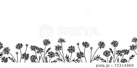 花のイラストによる背景素材(マーガレット) 72314969