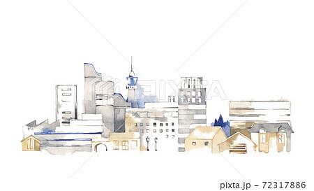 都会の風景、ビルのある街並 72317886
